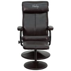 Personalized Brown Recliner BT-7863-BN-TXTEMB-GG