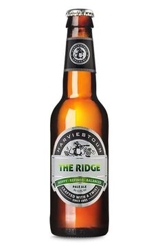 Cerveja Harviestoun The Ridge, estilo American Pale Ale, produzida por Harviestoun Brewery, Escócia. 5% ABV de álcool.