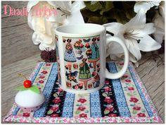 Conj. Mug Rug & Caneca Personalizada.