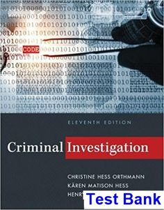 Introduction to general organic and biochemistry 11th edition test bank for criminal investigation 11th edition by hess ibsn 9781285862613 fandeluxe Image collections