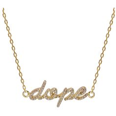 Khai Khai Dope Necklace ($1,650) ❤ liked on Polyvore featuring jewelry, necklaces, accessories, colares, joyas, kirna zabete, 18 karat gold jewelry, 18k jewelry, chain jewelry and 18k necklace