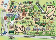Cartoon Map for aMaizin Adventure Park in Jersey Channel Isles