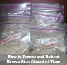 How to Freeze and Reheat Brown Rice for easy make ahead meals