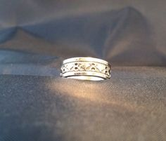 Vintage Sterling Silver Ring 14k ring band size 9