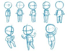 how to draw chibi body poses - Google Search
