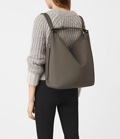 I.WANT.THIS. All Saints Women's Kita Backpack (MINK GREY)