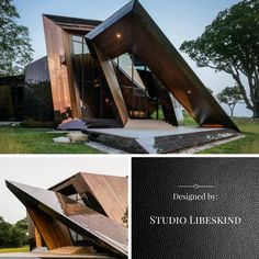 Folding Architecture, Landscape Architecture Model, Contemporary Architecture, Interior Architecture, Interior And Exterior, Folding Structure, Deconstructivism, Architect House, House In The Woods