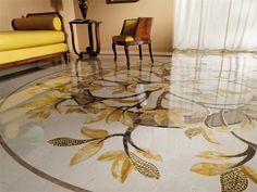 marble flooring design cutting by CNC water jet machine for luxury new york home by marvelous marble design Inc. Marble Art, Marble Floor, New York Homes, Italian Marble, Floor Design, Animal Print Rug, Home Furnishings, Natural Stones, Mosaics
