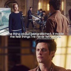 "#Stitchers 1x01 ""A Stitch in Time"" - Kirsten and Cameron"