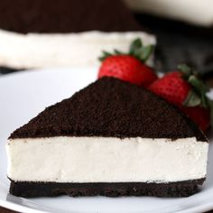 This Cheesecake Is Made From The Heart. Oreo no bake cheesecake Cookies And Cream Cheesecake, No Bake Oreo Cheesecake, Cheesecake Recipes, Raspberry Cheesecake, Food Cakes, No Bake Desserts, Dessert Recipes, Baking Desserts, Pastry Recipes