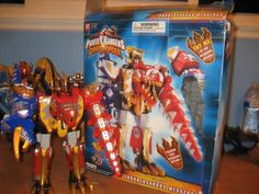 Bandai America Power Rangers Dino Thunder Deluxe Thundersaurus Megazord #Bandai