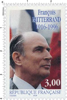 Timbre : 1997 FRANÇOIS MITTERRAND 1916-1996 | WikiTimbres