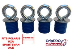 Amazon.com: Polaris Lock & Ride ATV Tie Down Anchors for Sportsman, RZR and Ace - Set of 4 Lock and Ride Type Anchors by GripPRO ATV Anchors: Automotive