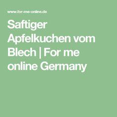Saftiger Apfelkuchen vom Blech   For me online Germany