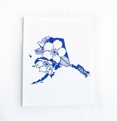 Letterpress Alaska Forget Me Not