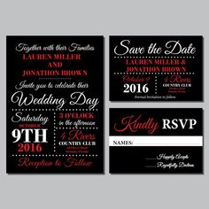 18 Best Red Wedding Invitations Images Wedding Stationery