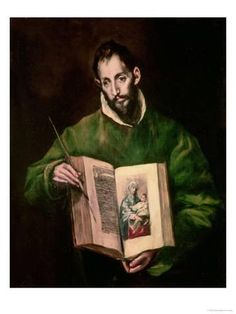 View Saint Luke Studio of El Greco; oil on canvas; Access more artwork lots and estimated & realized auction prices on MutualArt. Artist Canvas, Canvas Art, Canvas Prints, Canvas Size, Catholic Art, Religious Art, Catholic Answers, Framed Art Prints, Painting Prints