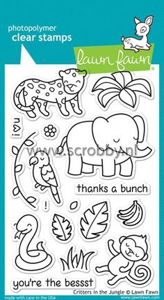 Lawn Fawn Critters In The Jungle Stamp | €13.13