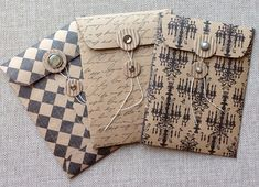 Handmade Coin Envelopes/Junk Journal/Scrapbooking/Gift Card