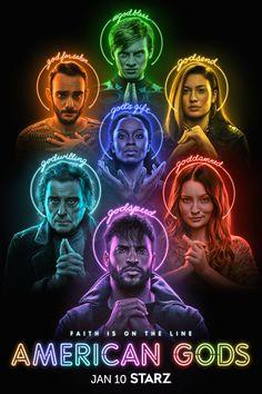 Faith is on the line. #AmericanGods #STARZ Ricky Whittle, Emily Browning, Watch Episodes, All Episodes, Watch Movies, Neil Gaiman, Watch Lucifer, Wisconsin, Pablo Schreiber