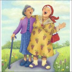 Afbeeldingsresultaat voor inge look art Old Lady Humor, Art Visage, Old Folks, Art Impressions, Young At Heart, Best Friends Forever, Old Friends, Happy Friends, Old Women