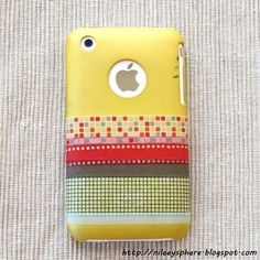 20 Ways to Decorate Your Tech with Removable Washi Tape-phone style