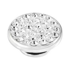 BUTTON-LIKE POPS KAGI GEMPOPS GIRLS NIGHT OUT STERLING SILVER CLEAR SWAROVSKI CRYSTAL SET - Jons Family Jewellers
