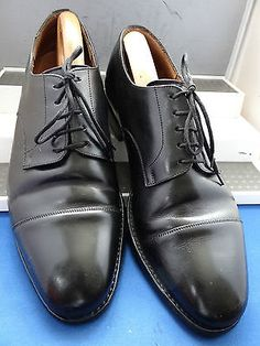 STEMAR -ITALY DESIGNER BLACK TWIN DERBY FORMAL SHOES UK 9.5 EU 43.5 US 10.5