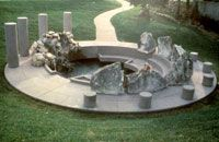 Sanctuary by Elyn Zimmerman. Located at the H. Lee Moffitt Cancer Center on the #USF Tampa campus.