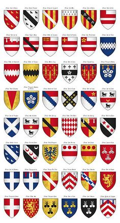 The Surrey Roll of Arms (aka Willement's Roll) - Shields 218-265 - Category:Surrey Roll - Wikimedia Commons