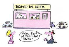 Kindergarten_KiGaPortal_Cartoon_Renate Alf_Drive-In-Kita