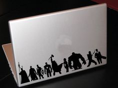 All Avengers Characters Silhouette Vinyl Decal. That is awesome!