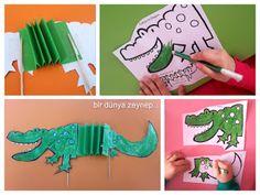 #preschool #okulöncesi #kindergarten #timsah #crocodile #sanatetkinliği #kidscraft #dairelerleetkinlik #kukla