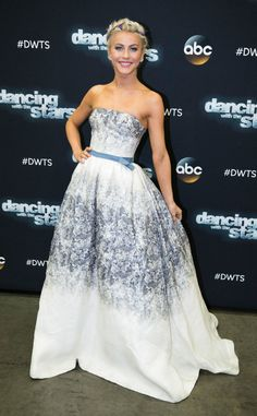 Such a lovely gown. Julianne Hough from The Big Picture: Today's Hot Pics  She may not be a competitor, but the Dancing With the Stars alum looked like a winner on the red carpet of the Season 21 finals.
