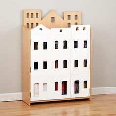 Brownstone Bookcase in Bookcases & Caddies | The Land of Nod - Maybe I could make one for less... $599 is just crazy.