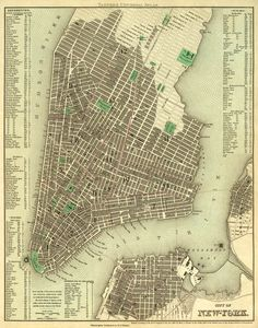 "Antique New York city map Print - 16 x 20 "". $30.00, via Etsy."