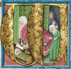 Missale quinque tomis constans, qui omnes multis (plus centum) et nitidissimis picturis ornati sunt. Salzburger Missale -  Berthold Furtmeyr Clm 15708 nach 1482 Folio 35