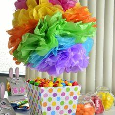 How to make a centerpiece for a birthday My Little Pony Cumpleaños, Fiesta Little Pony, My Little Pony Birthday, Trolls Birthday Party, Troll Party, Birthday Party Decorations, Birthday Parties, Rainbow Birthday, Fiesta Party