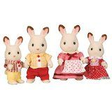 Flair Sylvanian Families - Chocolate Rabbit Family So adorable and cute, the Chocolate Rabbit Family is one of the sweetest families in Sylvania. Father Frasier, mother Teri, brother Coco and sister Freya. Dressed in love (Barcode EAN = 5038701041508) http://www.comparestoreprices.co.uk/dolls-clothes-and-accessories/flair-sylvanian-families--chocolate-rabbit-family.asp