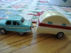 Vintage My Favorite Truck and Travel Trailer Salt and Pepper Shakers Salt N Pepa, Salt And Pepper Set, Gone Fishing, Salt Pepper Shakers, Spice Things Up, Tea Pots, Vintage Items, Projects To Try, Stuffed Peppers