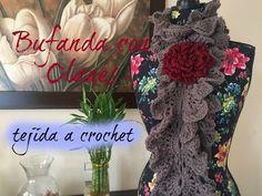 Bufanda con muchos volados calados tejida a crochet - Tejiendo Perú - YouTube