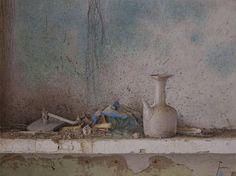 Autor: Jesús Lozano Saorin Titulo/title: Fragmentos Tamaño/size: 56x76 cm. Técnica/technics: Acuarela / Watercolor
