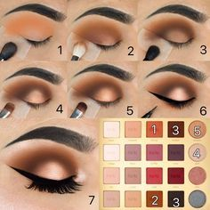 Makeup - Eyeshadow Tutorial - Weddbook Eye Makeup kim k eye makeup tutorial Eyeshadow Tutorial For Beginners, Eyeliner Tutorial, Eye Shadow Tutorial, Glitter Eyeshadow Tutorial, Brown Eye Makeup Tutorial, Eyeshadow Makeup, Makeup Brushes, Eyeshadow Palette, Gel Eyeliner