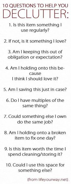 Good questions to ask when decluttering life! All parts of life ;) not just your closet.