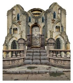 Old banded castle by fashionrushs on Polyvore featuring polyvore art vintage old castle history