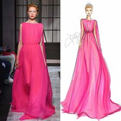 Fall 2015 Couture Sketches | H. Nichols Illustration