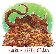 HOARD OF CRESTED GECKOS PRINT