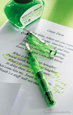 Classic M205 DUO Highlighter Shiny green - Fountain pen