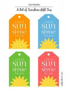Basket of sunshine with printable sunshine gift and basket ideas negle Image collections