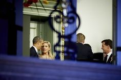 President Obama meets - and appears to charm - Queen Maxima of The Netherlands